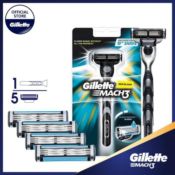 Combo dao cạo râu Gillette Mach3 Classic (kèm 4 lưỡi) cao cấp