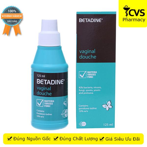 Dung dịch vệ sinh phụ khoa Betadine chai 125ml - CVSpharmacy