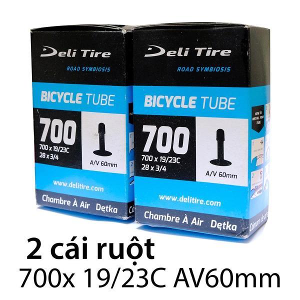Mua Ruột xe đạp, săm xe đạp 700x19/23C AV60mm DELI-TIRE ( Gồm 2  cái ) --  SPORTS WORLD SHOP