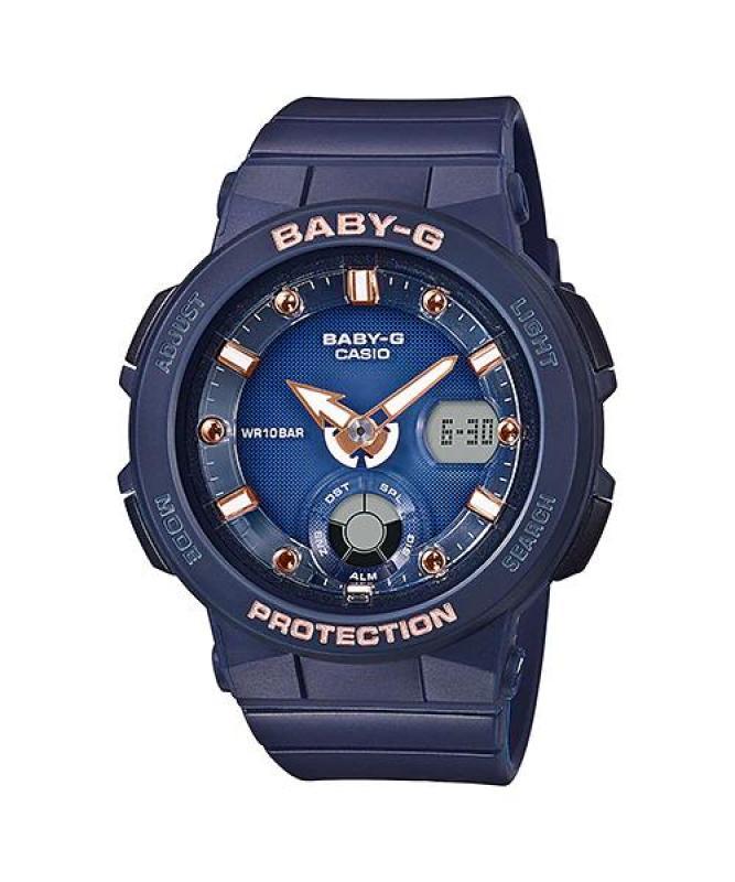 Đồng hồ casio nữ dây nhựa chính hãng BABY-G BGA-250-2A2DR