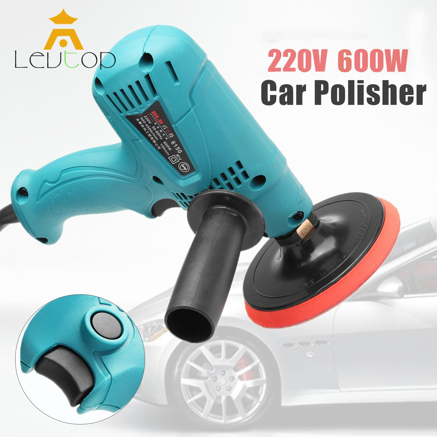 LEVTOP Car Polish Electric Car Polisher Machine Boat Polishing Sander Buffer Adjustable 6 Speed for Car & Household (600W)