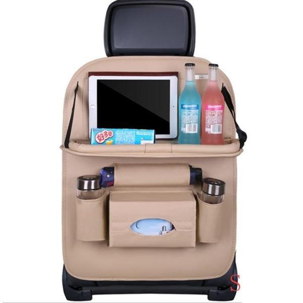 Túi treo đồ đa năng bằng da PU ghế sau ô tô Hotaco- Túi đựng đồ ghế sau ô tô BẰNG DA 2 mặt