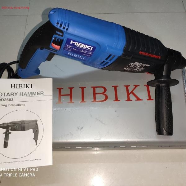 Máy khoan và đục bê tông Hibiki 02-26B, 910W, madein  Thái lan, dây đồng chịu nhiệt, moden 2020, 3 chức năng hoan bê tôn