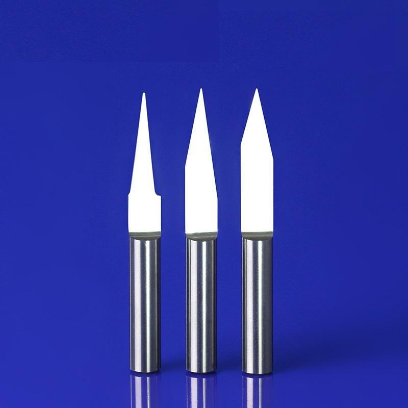 Bộ 10 Dao khắc chữ V CNC, 1 lưỡi thân 3.175 x (10-90 độ), loại tốt