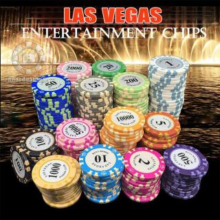 Set 10 Chip poker có số ( phỉnh poker ) dòng Vương niệm + Las Vegas chất nhựa cao cấp thumbnail
