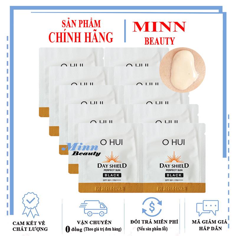 Combo 10 Sample Kem Chống Nắng Cho Da Bị Sạm Đen Ohui Sun Pro Black SPF50+/PA+++ 1ml x 10 giá rẻ