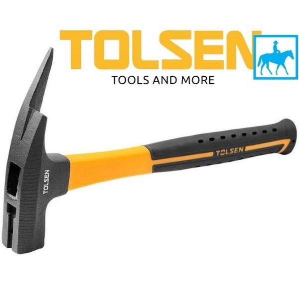 Búa sừng dê 600g dài 330mm Tolsen 25167, chất liệu bền bỉ, chống va đập, thiết kế chắc chắn, đảm bảo an toàn cho người sử dụng