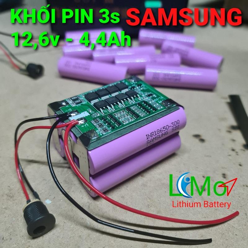 PIN Lithium 12,6v 4,4Ah SAMSUNG (HÀNG MỚI). Cao cấp, dòng xả cao chuyên thay cho pin máy khoan và các thiết bị 12v - LIMO