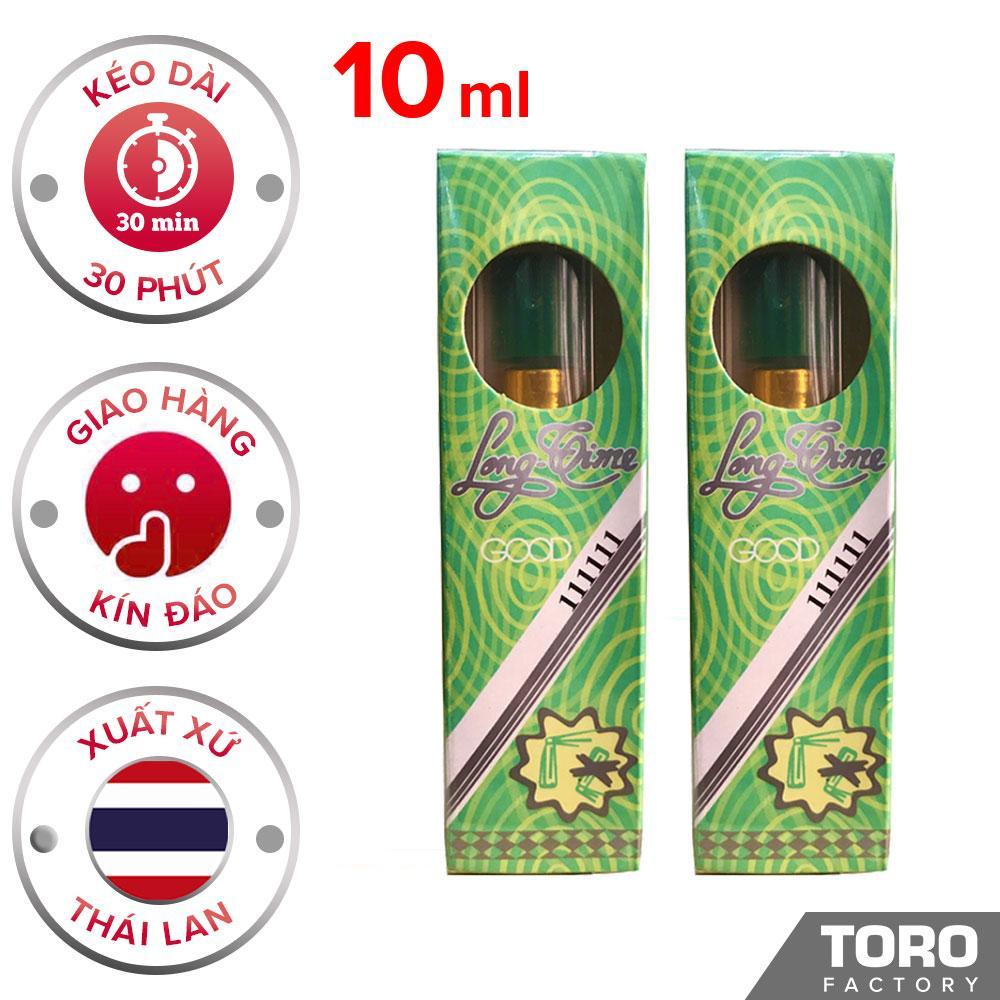 Bộ 2 Chai xịt (10ml) Thái lan longtime - Tinh chất kéo dài thời gian quan hệ , trị xuất tinh sớm - 1 Chai 5 ml -  [TORO FACTORY] nhập khẩu