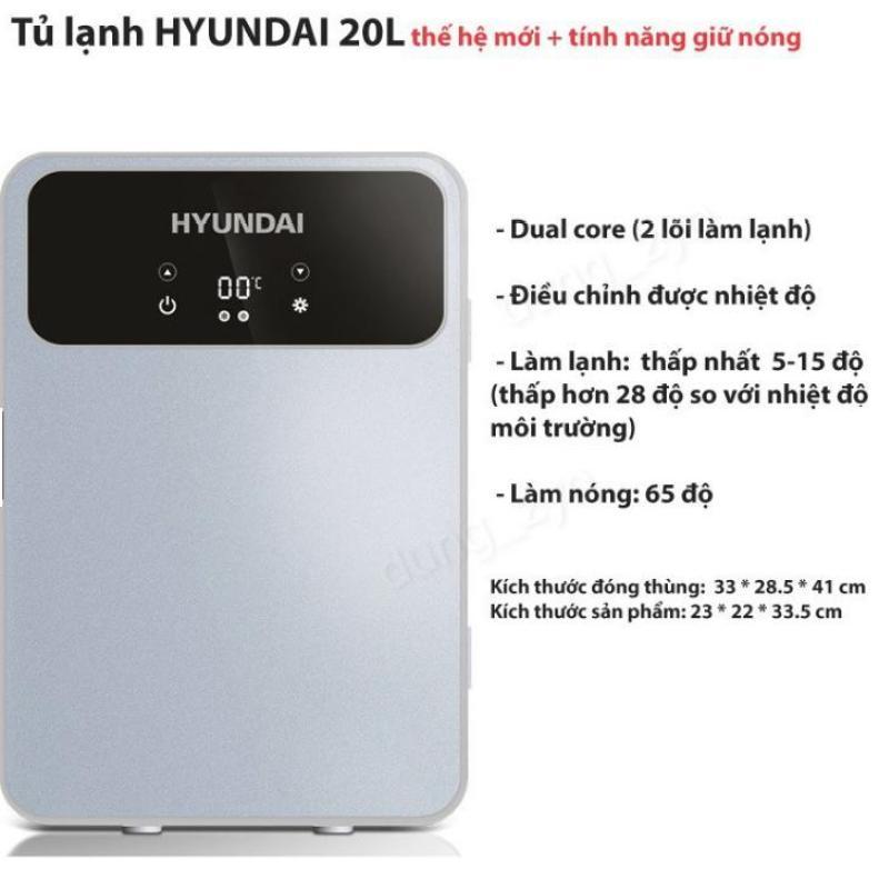 Euro Quality  Tủ lạnh 20L Huyndai có nhiệt độ hiển thị