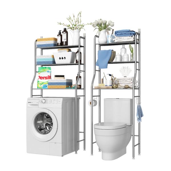 [GIÁ TỐT + SẴN HÀNG] Kệ sau máy giặt , kệ để đồ inox cao cấp , kệ để đồ sau máy giặt bồn cầu -T336 -337