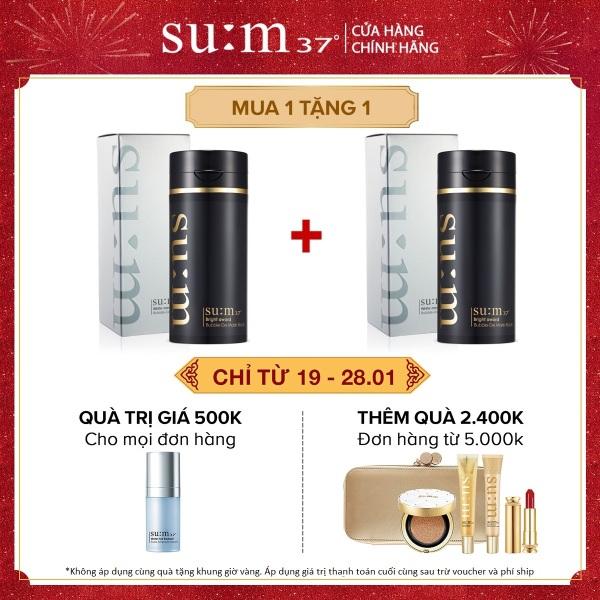 [Mua 1 tặng 1 - 19-28.1] Mặt nạ đen thải độc và phục hồi da Su:m37 Bright Award Bubble De Mask Black 100ml giá rẻ