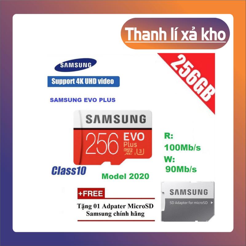 Thẻ nhớ MicroSDXC Samsung Evo Plus 256GB U3 4K R100MB/s W90MB/s - Box Anh Thẻ nhớ cho camera wifi, camera hành trình, điện thoại, máy chơi game, chất lượng hình ảnh 4k - Hàng Chính Hãng
