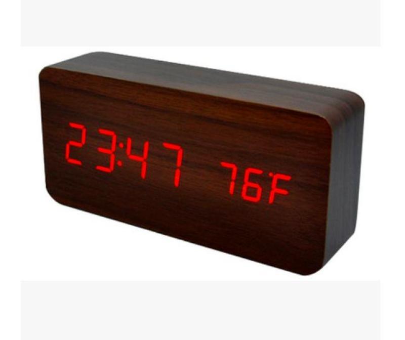 TẶNG 4 PIN KÈM SẠC] Đồng Hồ Để Bàn Trang Trí bằng gỗ - LED - Đủ 14 Mẫu - (Video thật) Kiêm Báo Thức & Nhiệt Kế DH003 bán chạy