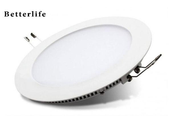 Đèn led panel âm trần tròn 6W/9W/12W/18W bao gồm tăng phô cao cấp  BetterLife