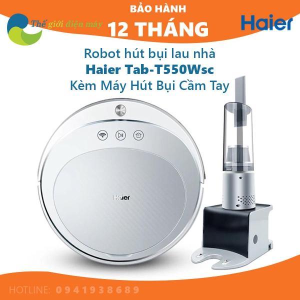 Robot hút bụi lau nhà Haier TAB-T550WSC, máy hút bụi thông minh, kèm máy hút bụi cầm tay - Thế giới điện máy