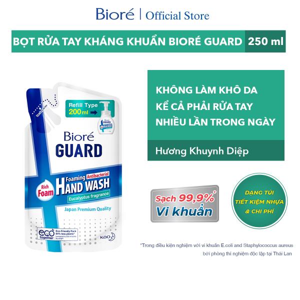 Bioré Bọt Rửa Tay Kháng Khuẩn Guard – Hương Khuynh Diệp (Túi) 200ml giá rẻ