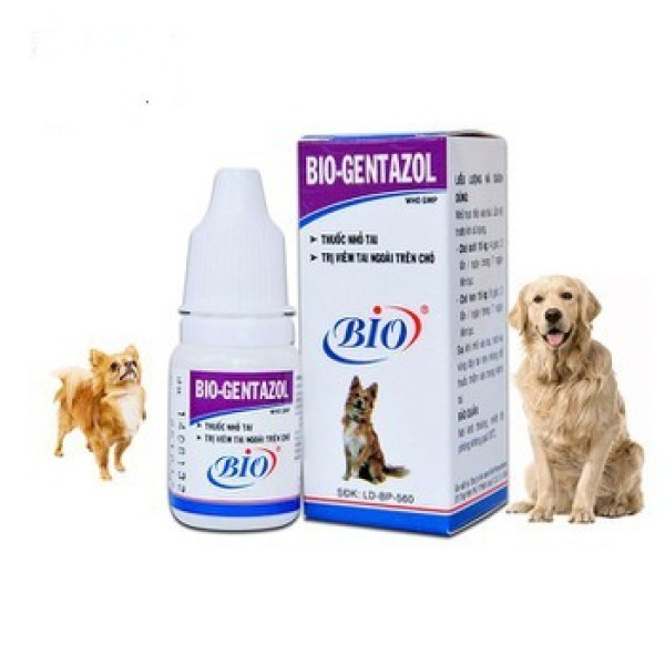[HCM]Dung dịch nhỏ tai Gentazol - ngứa nấm viêm tai ngoài cho chó mèo sản phẩm tốt chất lượng cao cam kết như hình