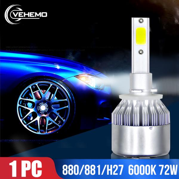 [Bestprice] Đèn pha LED đơn 880/881 / H27 LED xe hơi Chip COB 72W Đèn sương mù bóng LED 6000k (túi bong bóng đơn)