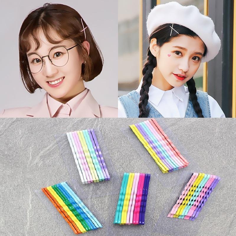 Kẹp tăm 7 màu Hàn Quốc siêu đẹp vỉ 10 kẹp