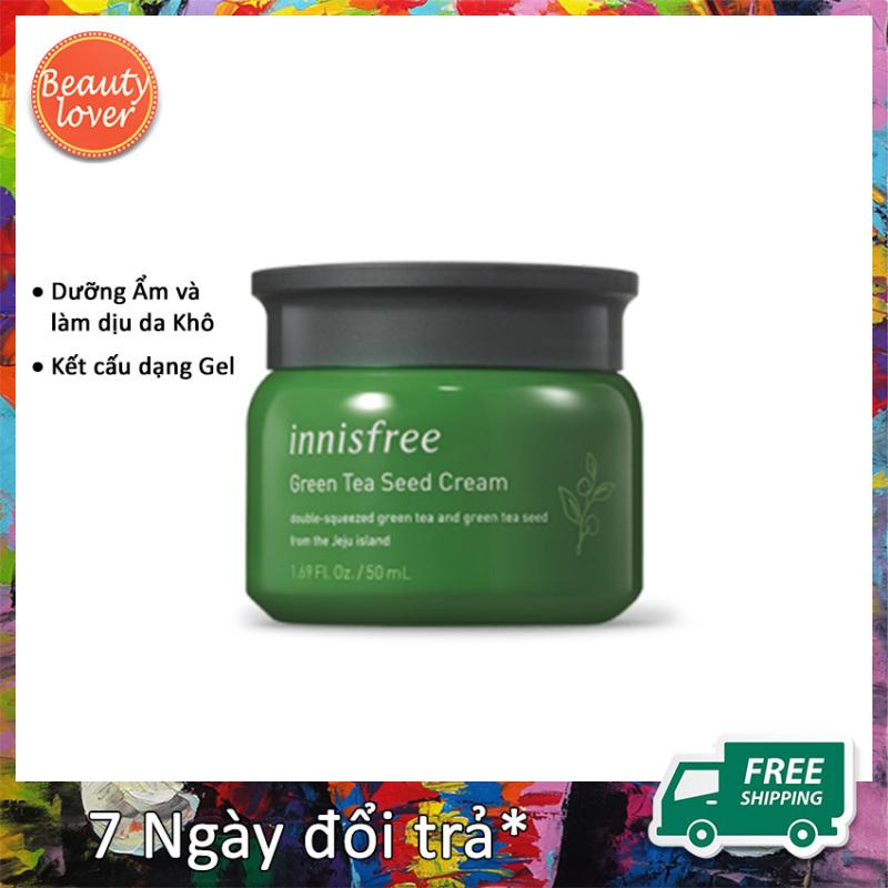 Kem Dưỡng Ẩm Innisfree Green Tea Seed Cream 50ml – Beauty Lover Giữ Ẩm & Bảo Vệ Da Căng Khoẻ