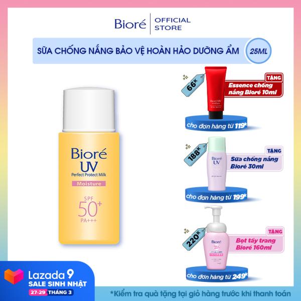 Bioré Sữa Chống Nắng Bảo Vệ Hoàn Hảo DƯỠNG ẨM Biore UV SPF50+/PA+++ 25ML giá rẻ