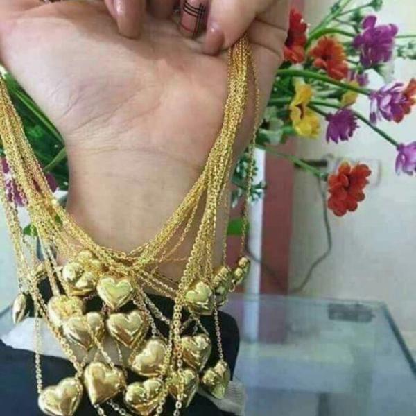 dây chuyền vàng non Thái Lan mạ vàng 18k