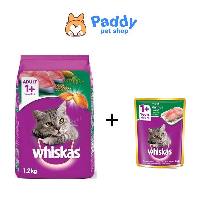 [1.2kg] Hạt Whiskas Tuna cho mèo trưởng thành vị cá ngừ