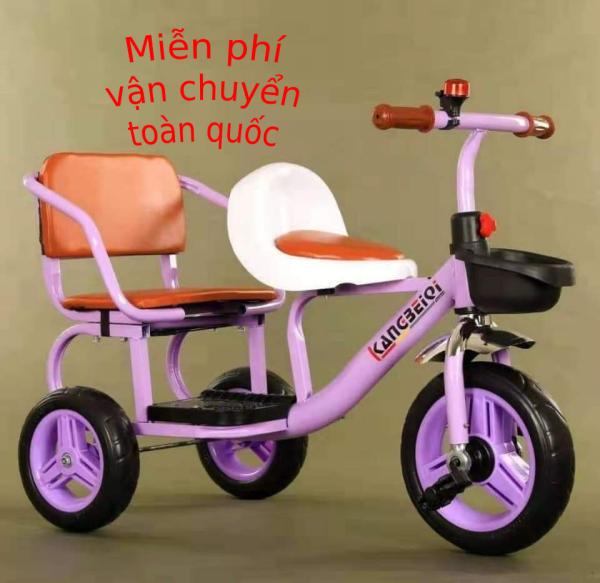 Giá bán XE ĐẠP TRẺ EM - XÍCH LÔ -, Xe đạp xích lô yên da cho bé 2-6t