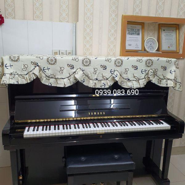 KHĂN PHỦ ĐÀN PIANO CƠ ĐẸP CHẤT LƯỢNG, HỌA TIẾT THỦY THỦ