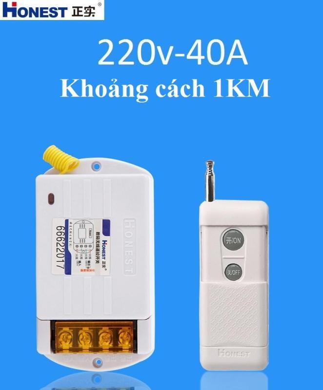 Công tắc điều khiển từ xa 1KM công suất lớn 40A/220V Honest HT-6220KGD-Hàng Nhập Khẩu