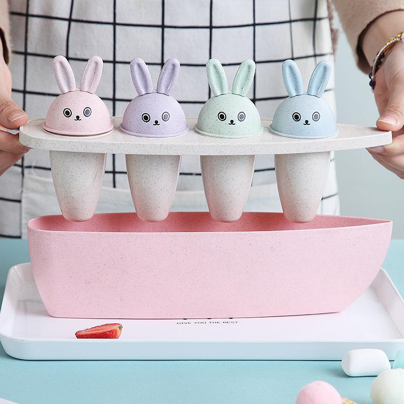 Bộ khuông làm kem 4 ngăn que hình thỏ