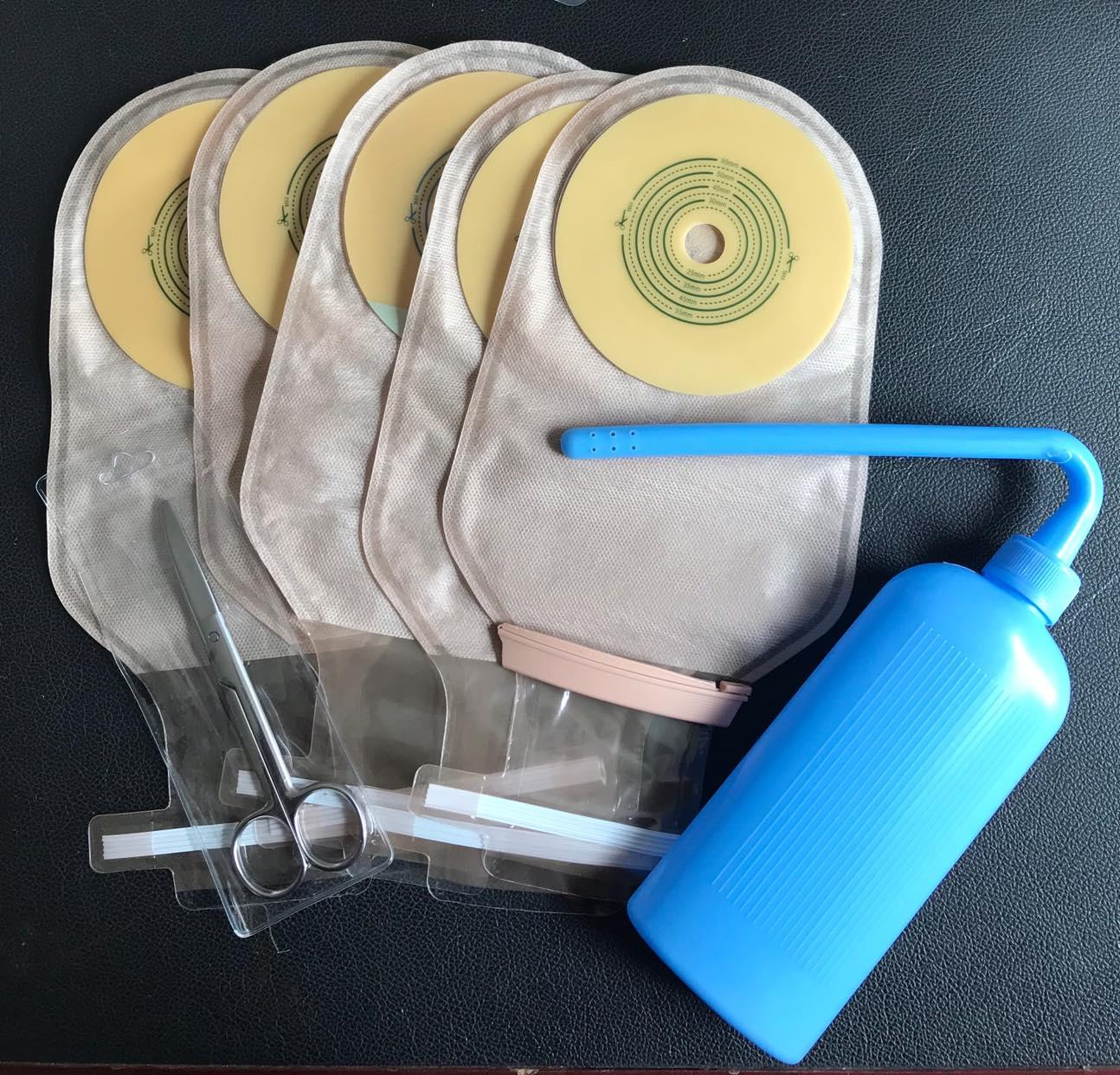 Túi hậu môn nhân tạo kẹp liền thông minh 4006T(combo 20 túi tặng 1 chai rửa vệ sinh chuyên dụng rửa túi)