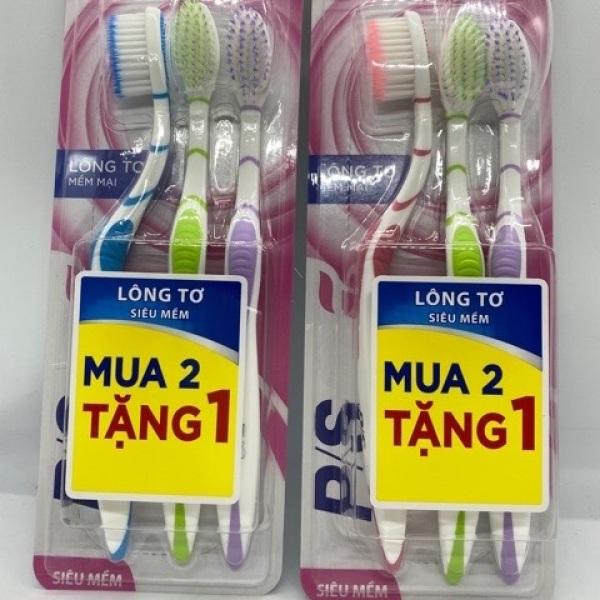 Bàn chải răng ps lông tơ siêu khuyến mãi (2 tặng 1 cây )
