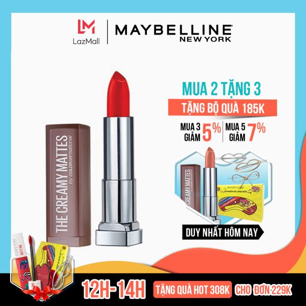 Son Lì Mịn Môi Tông đất Maybelline New York Color Sensational Inti-Matte Nude Lipstick 3.9g giá rẻ