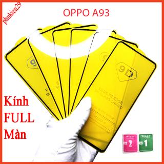 Kính cường lực OPPO A93, Kính cường lực full màn hình, Ảnh thực shop tự chụp, tặng kèm bộ giấy lau kính 5centimet thumbnail