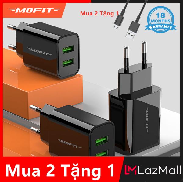 Giá [Mua 2 Tặng 1]MOFIT MF20 - Bộ chuyển đổi sạc tường USB kép Sạc nhanh 2.4A