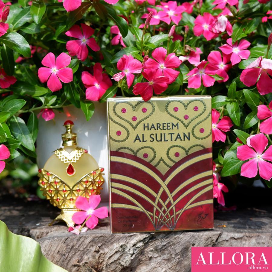 Nước hoa tinh dầu Dubai Hareem Al Sultan Gold hương hoa cỏ, hương gỗ 35 mL