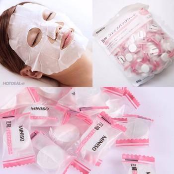 Combo 10 viên mặt nạ giấy nén Miniso Nhật Bản chính hãng