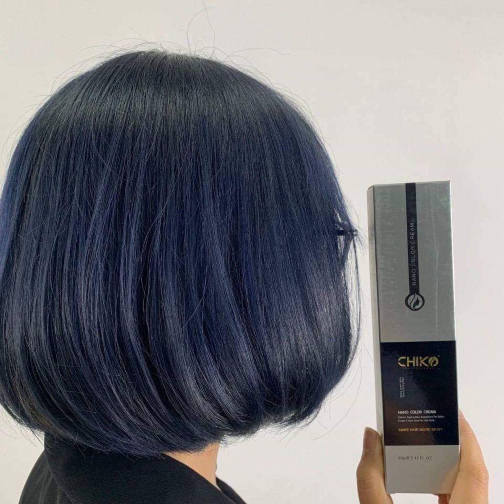Thuốc nhuộm tóc màu Xanh Đen + kèm trợ nhuộm cao cấp