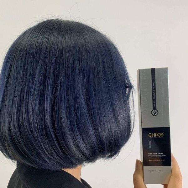 Thuốc nhuộm tóc màu Xanh Đen (kèm oxi và găng tay) cao cấp