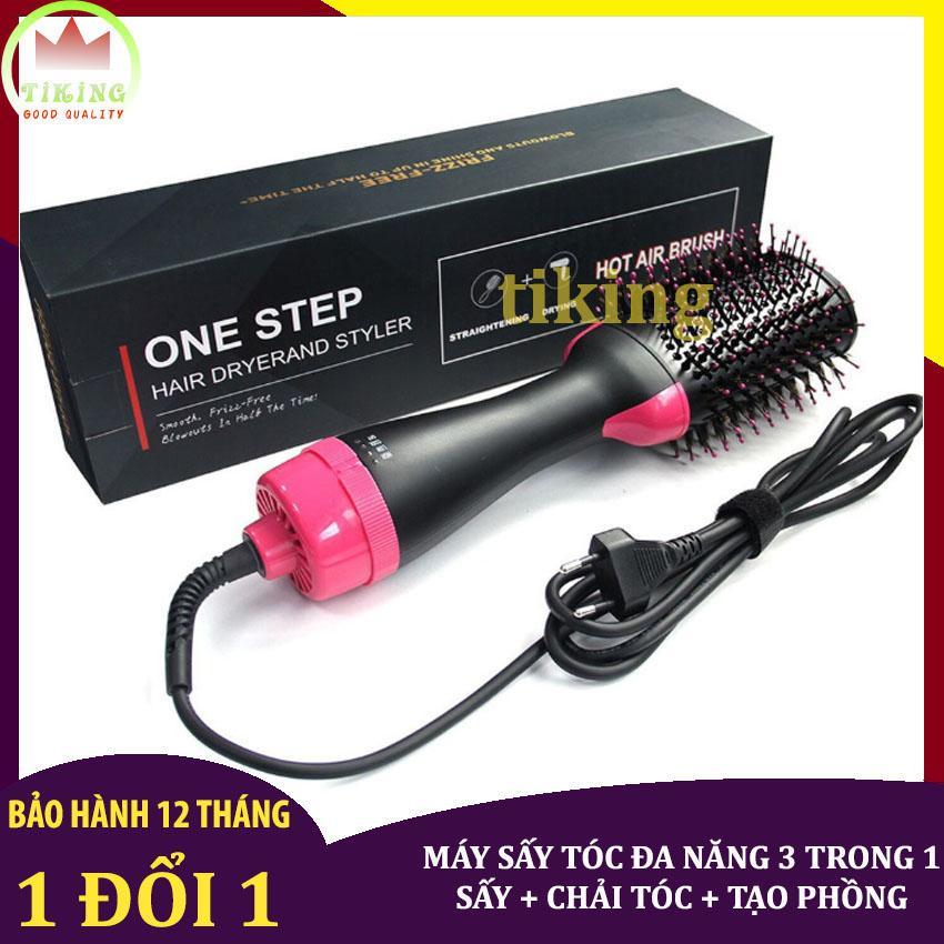 [Làm tóc tại nhà] Máy sấy tóc đa năng 3 trong 1 One Step, lược điện chải lóc làm cong, máy tạo kiểu tóc làm phồng đa năng Hair Dryerand Styler [Bảo hành 12 tháng bởi tiking] giá rẻ