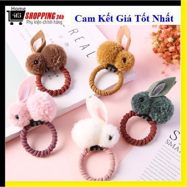 ⚡ Xinh Lung Linh ⚡ Buộc Tóc Cột Tóc Hình Chú Thỏ 2020 Siêu Dễ Thương (Nhiều Màu) nhập khẩu