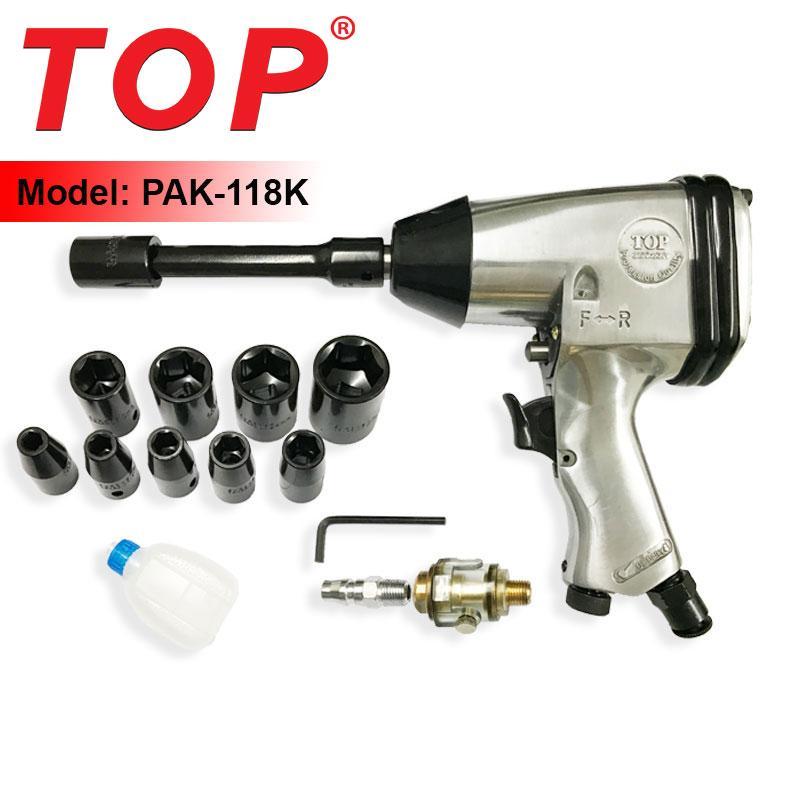 Bộ dụng cụ mở tuýp bằng khí nén 1/2 (Có bộ tuýp) TOP - PAK-118K