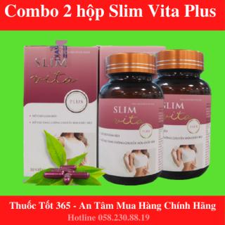 Combo 2 hộp Giảm cân Slim Vita plus- Hỗ Trợ Giảm Cân An Toàn, Hiệu Quả - TAPHAR thumbnail