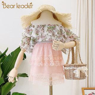 Đầm Công Chúa Ngọt Ngào Cho Bé Gái Lãnh Đạo Gấu Trang Phục Đeo Vai Trẻ Em Mùa Hè Mới Đầm Ren Hoa Cho Bé Trang Phục Dễ Thương Cho Trẻ Em 3-7Y