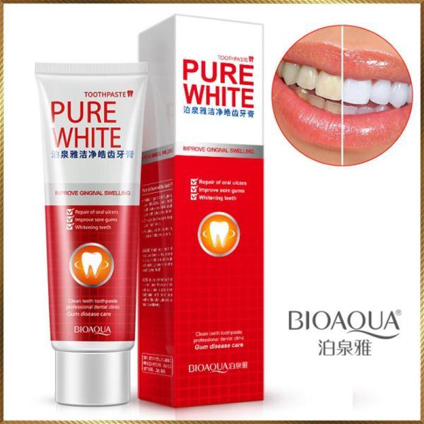 [Lấy mã giảm thêm 30%] Kem đánh răng trắng răng Pure White Bioaqua PW25 nhập khẩu