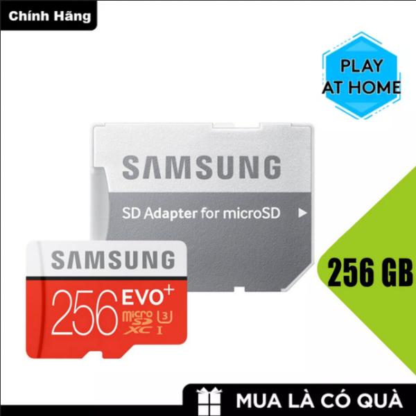 [ Hàng Mới ]  Thẻ nhớ MicroSDXC Samsung Evo Plus 256GB U3 4K - Tốc độ đọc100 MB/s - Tốc độ ghi 90 MB/s - Box Anh ( Đỏ )