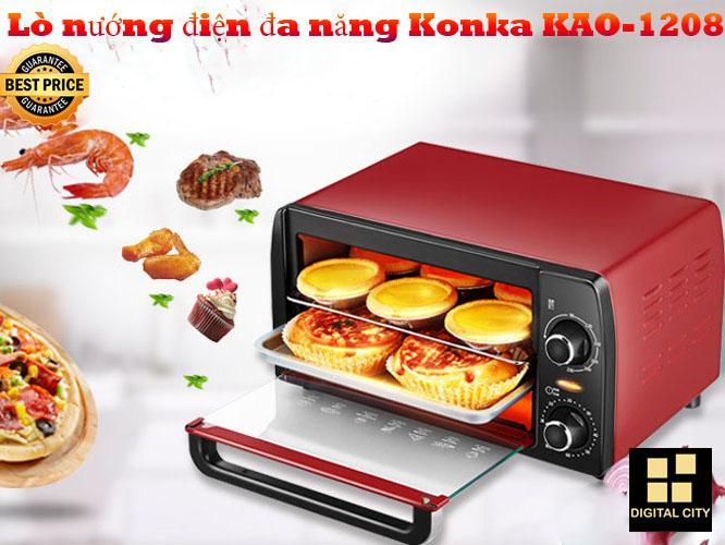 Lò nướng điện đa năng Konka KAO-1208 - Sản phẩm có công xuất lớn, giúp bạn nướng những món ăn bạn thích 1 cách dễ dàng.