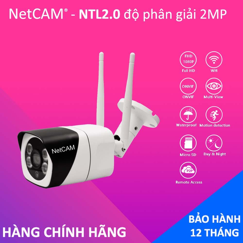 Camera IP wifi ngoài trời NetCAM NTL2.0 Full HD 1080P, Tính năng phát hiện chuyển động, Đàm thoại 2 chiều - Hãng phân phối chính thức
